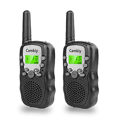 Real Walkie Talkies for Kids Birthday Gift, Toy for Kids Age 4-10 Boys 2 Way Radios Toys Phone Black