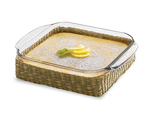 Square Baker Dish (Libbey Baker's Basics Square Glass Casserole Baking Dish with Basket, 8-inch by 8-inch)