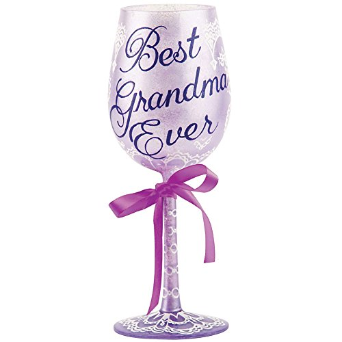 "Designs by Lolita ""Best Grandma Ever"" Hand-painted Artisan Wine Glass, 15 ()"