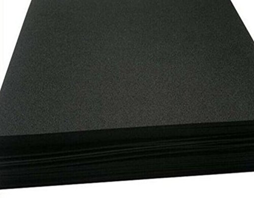 Eco Pultrusions Sponge Neoprene 60 inchx12 inch Black 1pack 1/4 inch Thick - Black Packing Foam