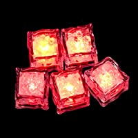 Theshy 1Pc Constantly Bright Glow LED Ice Cubes Fluorescent Lights Props Wedding Bar Toys and Hobbies