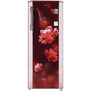 LG 270 L 3 Star Inverter Direct-Cool Single Door Refrigerator (GL-B281BSCX, Scarlet Charm, Moist 'N' Fresh)