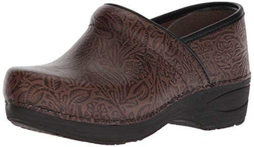 Dansko Women's XP 2.0 Clog, Brown Floral Tooled, 42 Medium EU (11.5-12 -
