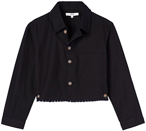 Femme Court FIND Noir Blouson Black 68qqwE5xA