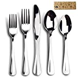 Silverware Set, Elegant Life 20-Piece Stainless Steel Cutlery Set, Mirror Polishing Flatware Sets, Delicate and Practical Tableware Sets, Multipurpose Use for Home, Restaurant Tableware Utensil Sets