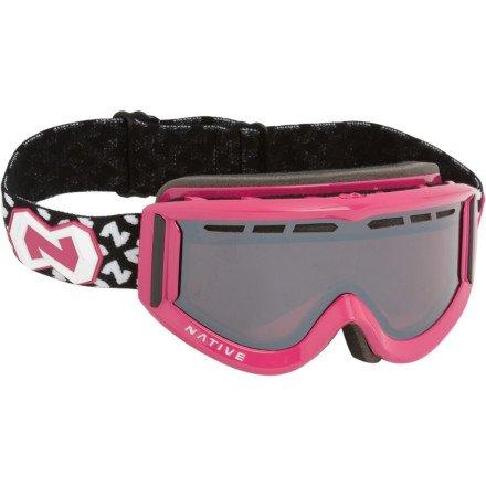 Native Eyewear Riva Polarized Goggle (Chrome Reflex, Pink) (Pink Goggles Chrome)