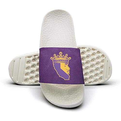 ADIDII Womens Printed Non-Slip Slipper Summer Slide flip Flop Sandals La_Bron_Yellow_Logo_Basketball Summer Slipper Stylish B07H2CBRVS Shoes ed742c