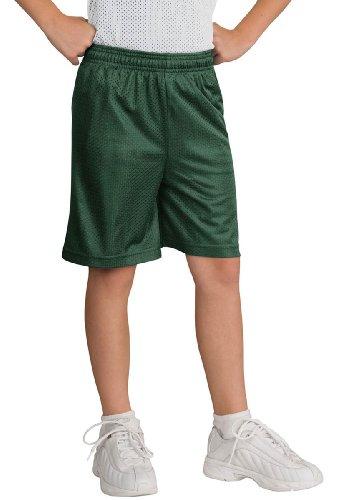 Sport-Tek Boys' PosiCharge Classic Mesh Short M Forest Green -