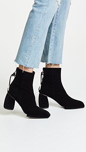 Booties Square Nen Black Ribbon Women's Half Reike qUPCwRgxw