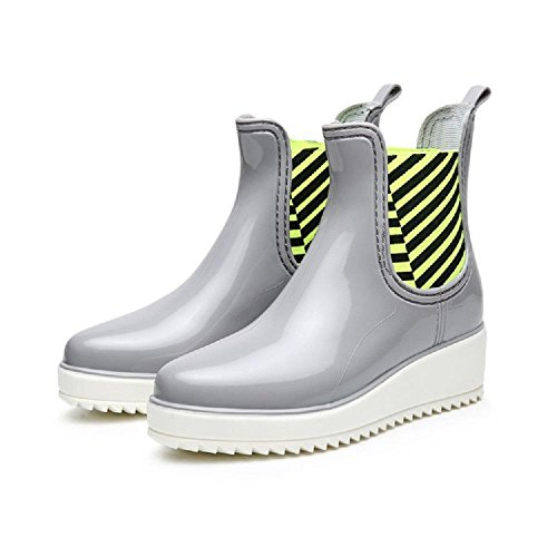 pioggia da gray Stivali moda Scarpe antiscivolo wqpAZ6tx