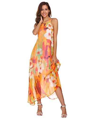 Sommerkleid orange blumen