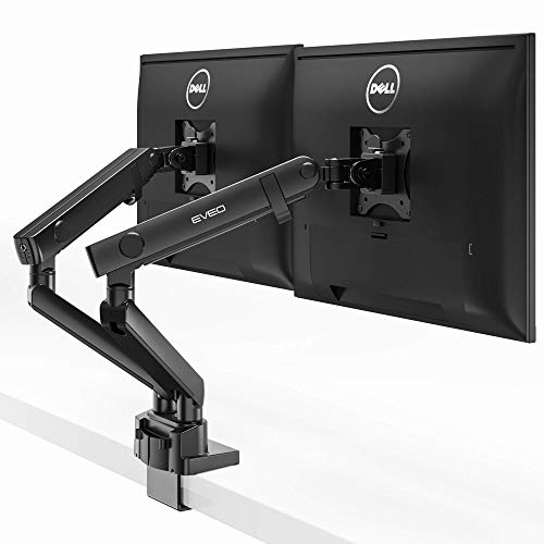 Premium Monitor Mount Desk Arms - Monitor Arms for Dual Screens with Full Motion Spring Movement - Fit 17 Inch to 32 Inch VESA Compatible Screens…