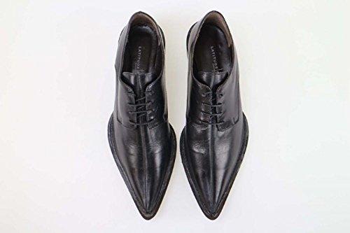 Elegantes LATITUDE Cuero eleganti EU 36 AM929 Zapatos FEMME Negro Rq1wPq