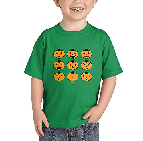 Halloween Pumpkin Icons T-Shirt (Kelly Green, 4T) -
