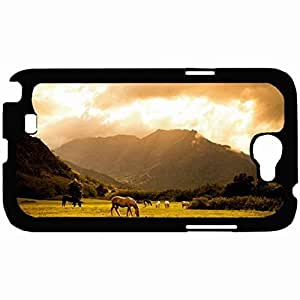 New Style Customized Back Cover Case For Samsung Galaxy Note 2 Hardshell Case, Back Cover Design Horse Personalized Unique Case For Samsung Note 2 wangjiang maoyi