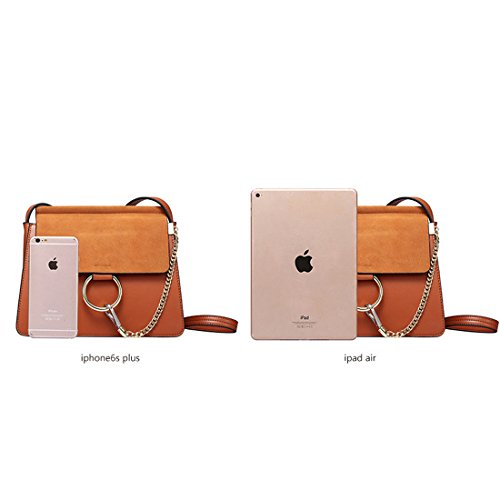 HT Messenger Bag - Bolso estilo cartera para mujer negro