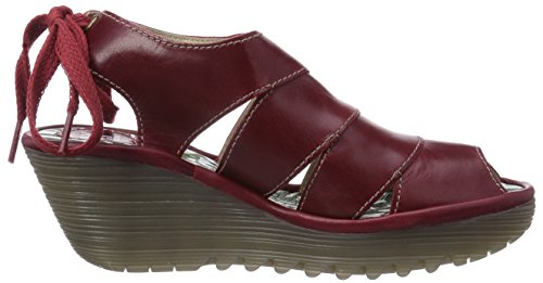Rosso Fly donna Rot 002 Sandali Red London YOWN gB4HzxBWOc