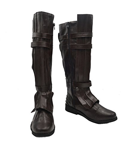 Star Wars Darth Vader Anakin Skywalker Cosplay Shoes Brown Boots Custom (Darth Vader Costume Changes)