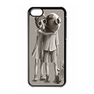 IPhone 5C Case, Mens Designer Creepy Killa Case for IPhone 5C {Black}