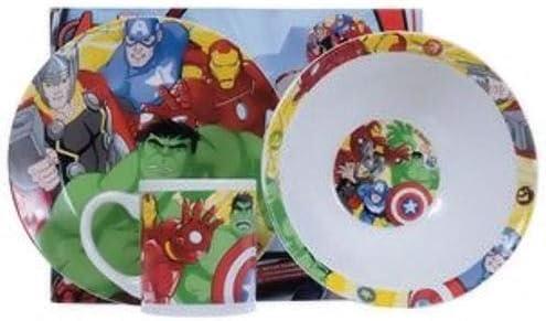 Plate Cup Ceramic Bowl New F2 TV-24 Marvel Avengers Breakfast Set