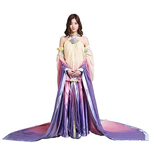 Women's Halloween Cosplay Costume Princess Queen Halter Neck Trailing Dress -