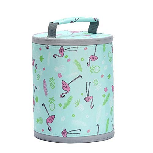 Gion Canvas Insulated Thermal Cooler Lunch Bag,Multicolor