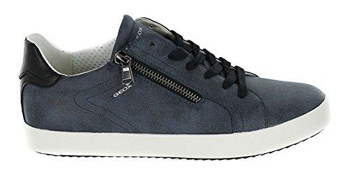 Geox Zapatillas de Piel Para Mujer Black/Navy