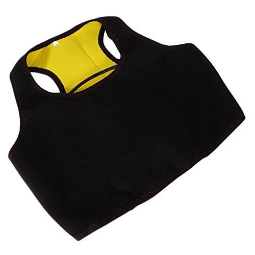 MagiDeal Neopren Körper Shaper Bodysuit Fitness Sport Weste Vest L Kurz für Damen