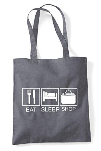 Activity Sleep Funny Dark Hobby Eat Shop Grey Bag Tote Tiles Shopper wPqAX7np