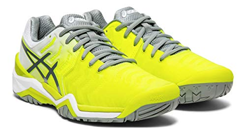 - ASICS Gel-Resolution 7 Women's Tennis Shoe, Safety Yellow/Stone Grey, 9.5 M US