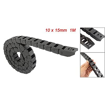 """URBEST 10 x 15mm Black Open on Both Side 1M/39.4""""Length Plastic Cable Drag Chain: Industrial & Scientific"""