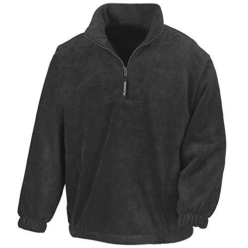 Jackets Mens Zip Active Black Half Result Fleece f8wCxRnq