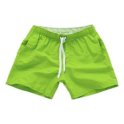 c Pantalón De Bozevon Hombres Cortos Pantalonetas Mujer Verde Ajustable  Playa Shorts Casual Deporte Surf nRURqOYp 98116427365f