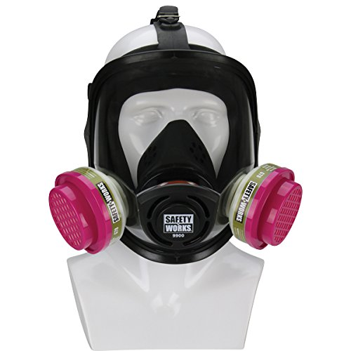 Safety Works Full Face Cartridge Respiratory Protection by Safety Works
