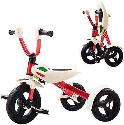 YUMEIGE triciclos Peso de Carga de la Bicicleta del bebé Plegable del Triciclo de niños 3-6Years Viejo Regalo de cumpleaños 25kg Disponible (Color : Rojo)