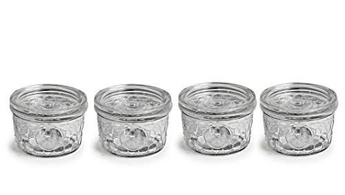 Circleware Rooster Yorkshire Mason Glass Jars Glass with Glass Lids, 12 Ounce, Set of 4, Limtited Edition Glassware Serveware by Circleware (Image #2)