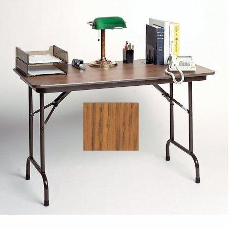 CORRELL Mini Folding Tables - Medium oak top/brown frame (Correll Office Table)