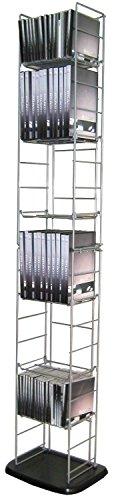 Moon Daughter CD DVD Tower Folding Rack Storage Holder Blu-Ray Media Organizer Wall Stand