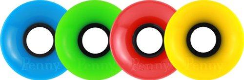 Penny 59mm Multi Cyan/Green/Red/Yellow Skateboard Wheels (Set Of 4) by Penny   B00INTKJN8