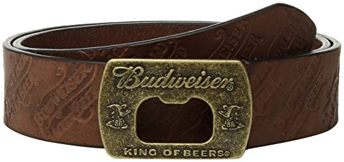 Budweiser By Buxton Mens Bowtie Belt  Deep Brown  34