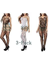 Women Sexy Mesh Lingerie Fishnet Bodysuit Lace Chemises Crotch Bodystockings
