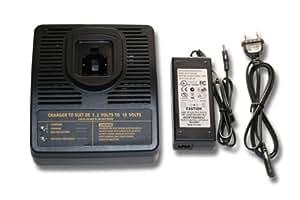 Cargador de carga rápida vhbw para herramientas Dewalt 7.2V 12V 14.4V 18V NI-CD NI-MH Li-Ion por ej. DC9096 DE9039 DE9095 DE9096 DE9503 DC9091