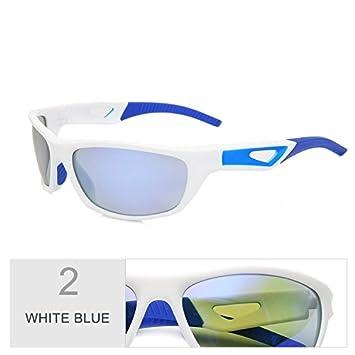c43f13b113 TIANLIANG04 TAC Lentes Deportivos del Hombre Desde El Bastidor Lluvia Biker  Deportes Gafas Polarizadas Uv400 Proteger Resistir El Viento De Cristal  Azul, ...
