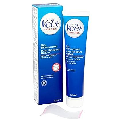 Veet Crema para el retiro del pelo de los hombres Gel Crema 200ml