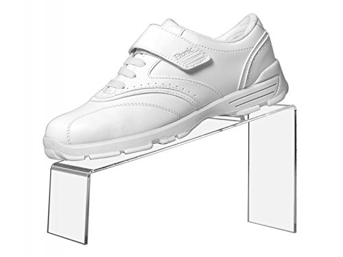 Marketing Holders Shoe Stand Slanted Premium Clear Acrylic 9''L x 4''W x 5''H Shoe Display Qty 2 by Retail Resource