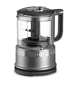 KitchenAid KFC3516CU 3.5 Cup Mini Food Processor, Contour Silver