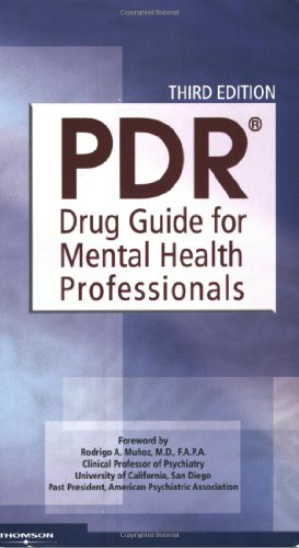Pdr Drug Guide For Mental Health Professionals  3Rd Edition