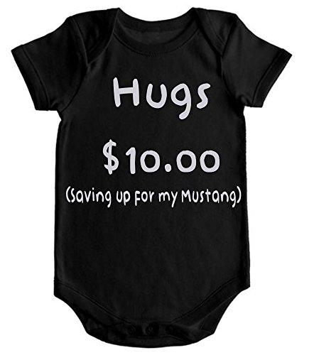 LPM Hugs $10.00 saving up for my mustang Unisex Funny Romper Onesie Creeper