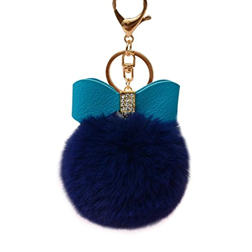 Sunfei Fluffy Bowknot Keychain Handbag