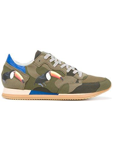 Philippe Model Sneakers Uomo TBLUBC01 Cotone Multicolor